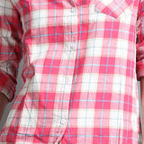 New Women's Fashion Loose Long Sleeve Cotton Casual Button Down Flannel Shirts - ellemore.com