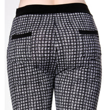 Check Pattern Print Skinny Knee Length Leggings Stretchy Sexy Pencil Pocket Pant - ellemore.com