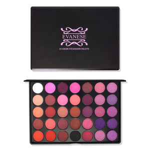 Evanese Beauty Makeup 35 Color High Pigment Eyeshadow Palette All that Jazz
