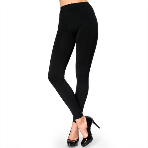 Skinny Polyester Spandex One Size Solid Leggings Stretch Sexy Pencil Pants - ellemore.com
