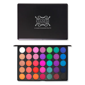 Evanese Beauty Makeup 35 Color High Pigment Eyeshadow Palette Rock Superstar