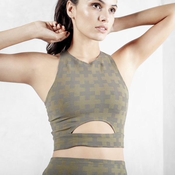 Printed Crop Top Organic Cotton Lycra