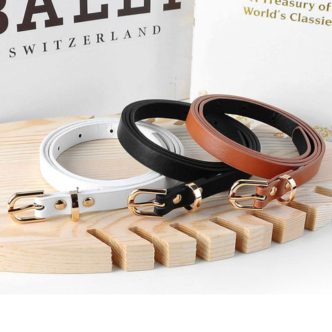 5 colors fashion female thin belt women 2019 high quality Strap women leather trouser children's Belts ladies On dresses