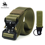 NO.ONEPAUL Men's casual fashion tactical belt alloy automatic buckle youth students belt outdoor sports training free shipping