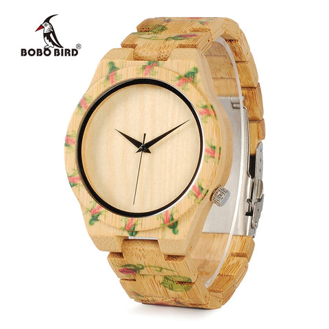 AnAvLiNa BOBO BIRD Bamboo Wood Men Luxury Watch