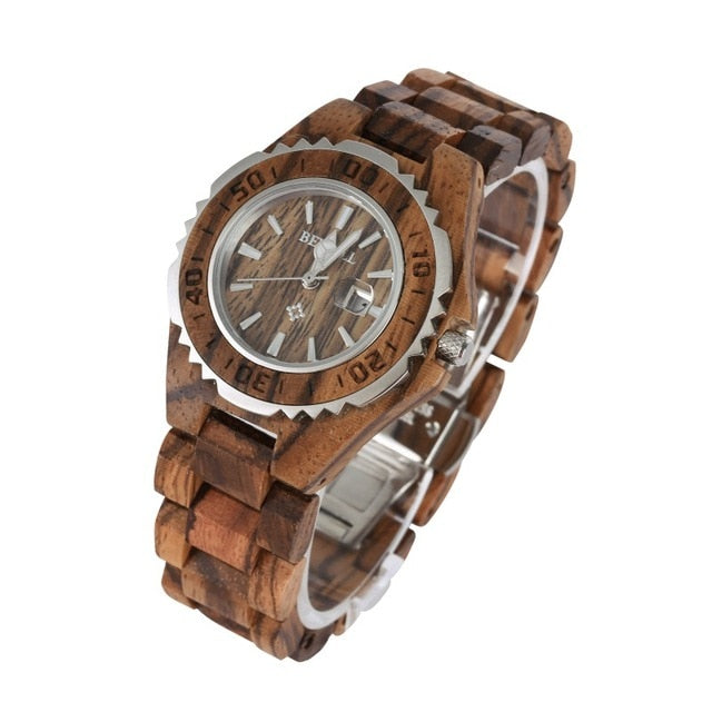 AnAvLiNa BALIGHT Fashion Luxury Waterproof  Wristwatch Wood Watch