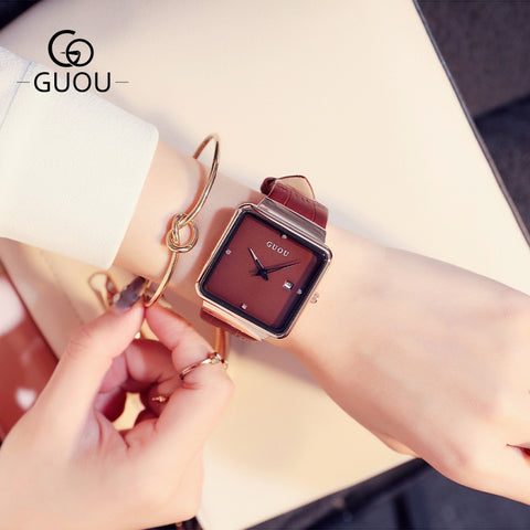 RF ICONIC GUOU Women Luxury Square Wrist Watches