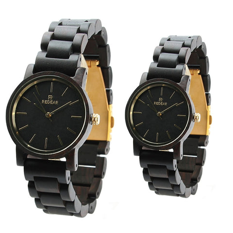 AnAvLiNa Wood Quartz Wristwatch Unisex Elegant Watches