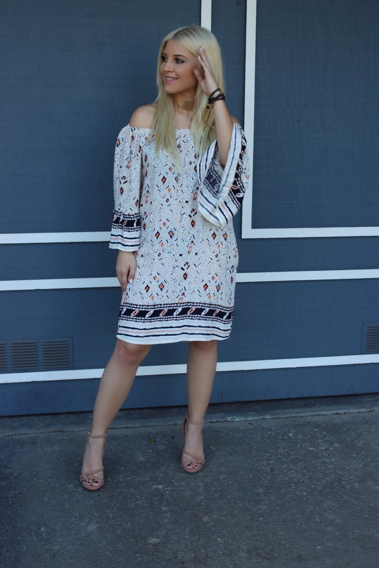Foxy Romantic Off the Shoulder Dress