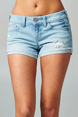 FLAWLESSLY DESTRUCTED DENIM SHORTS - Mod Owl