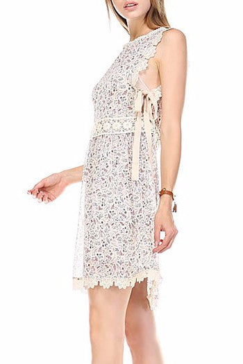 SARAH CROCHET EDGE DRESS - Mod Owl