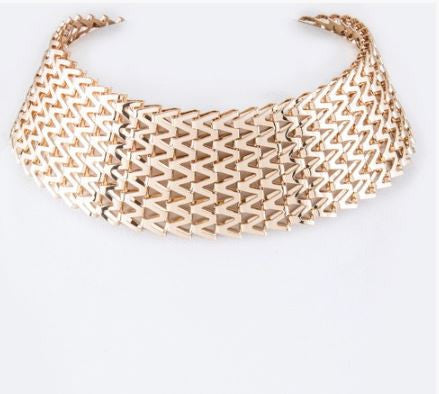 Chevron Chain Choker Necklace