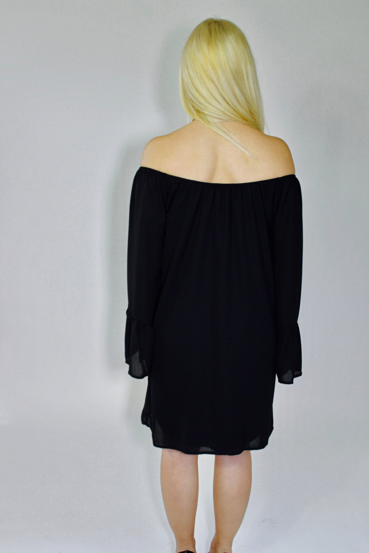 The One Off the Shoulder Shift Dress