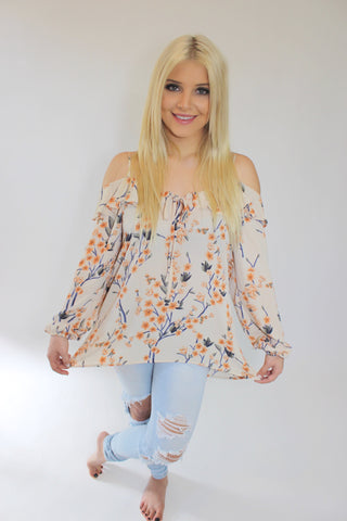 Birdie Off the Shoulder Tunic Top