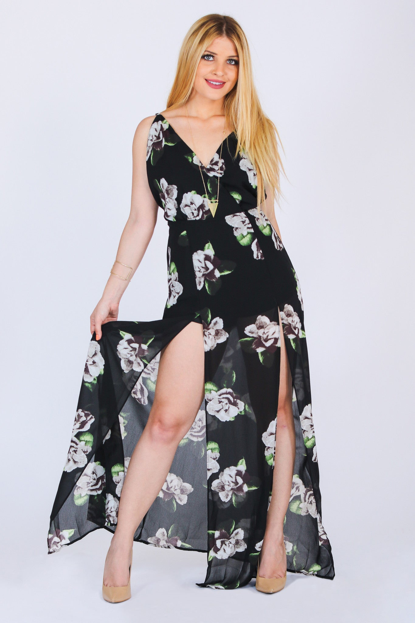 NIGHT QUEEN MAXI DRESS - Mod Owl