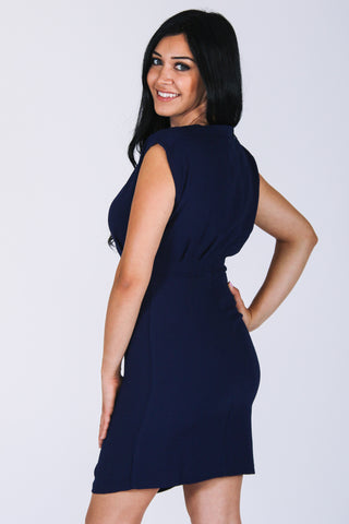Navy Blue 9 to 5 Dress