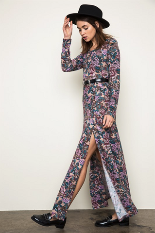 CHLOE LONG SLEEVE MAXI DRESS