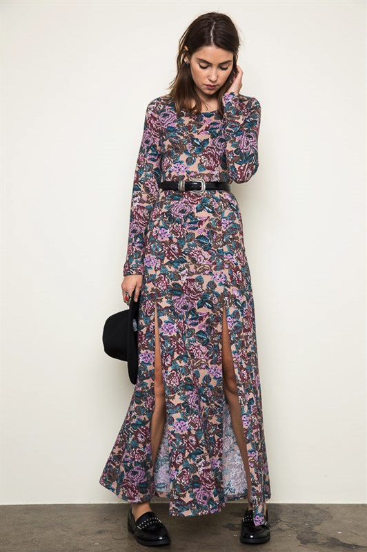 CHLOE LONG SLEEVE MAXI DRESS - Mod Owl