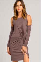 POISED COLD SHOULDER DRESS - Mod Owl