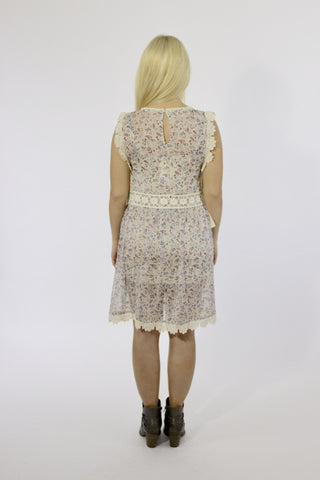SARAH CROCHET EDGE DRESS