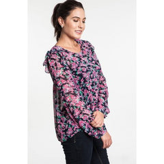 LONG SLEEVE FLORAL BLOUSE - Mod Owl