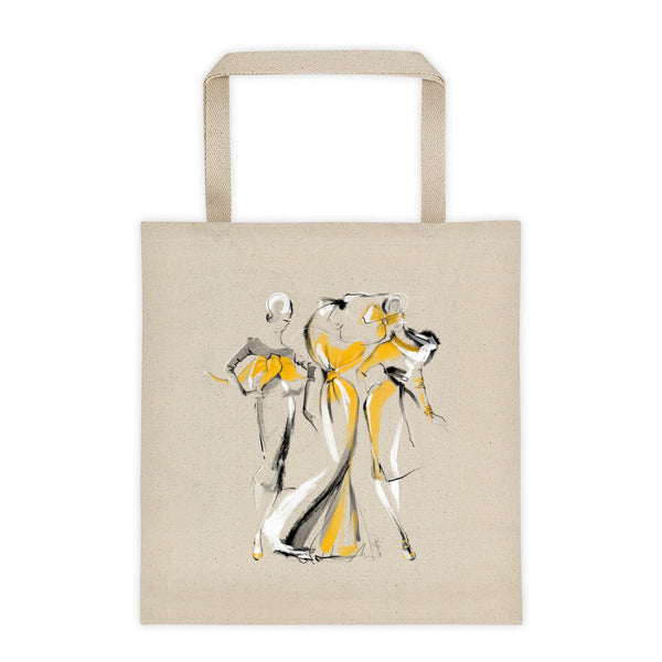 The Girls in Yellow Tote Bag