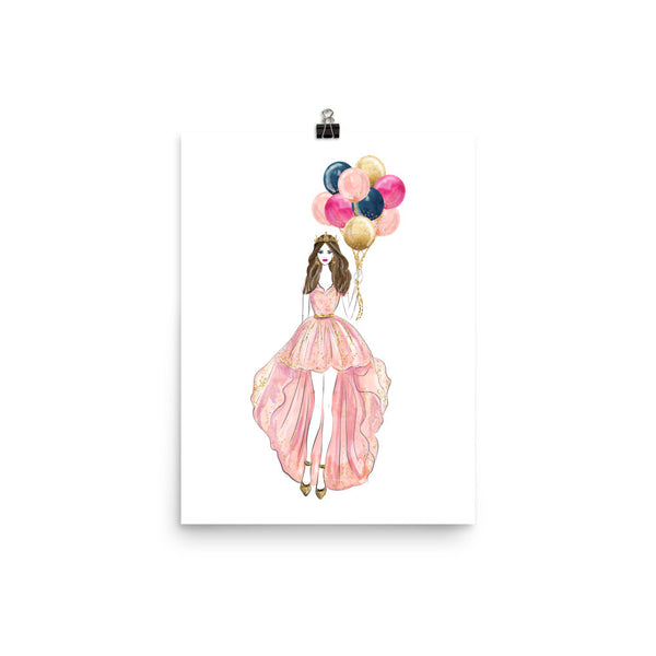 Balloon Party Photo Poster