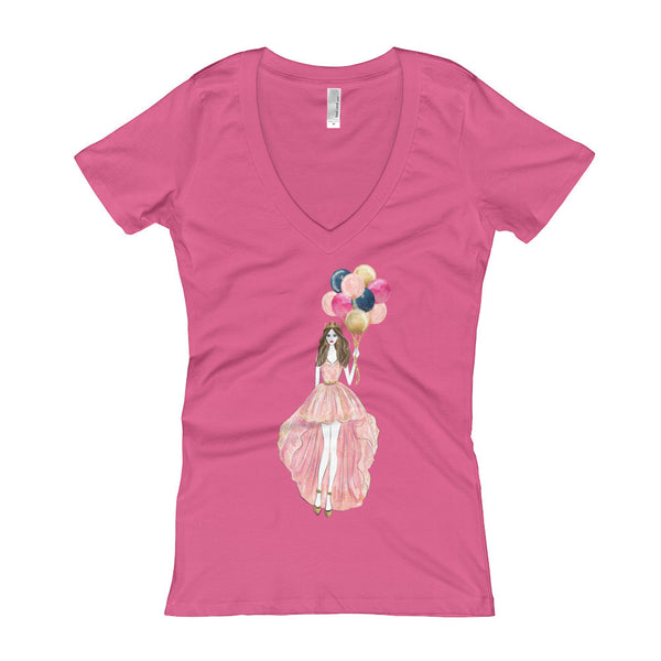 Balloon Party Women's V-Neck T-shirt