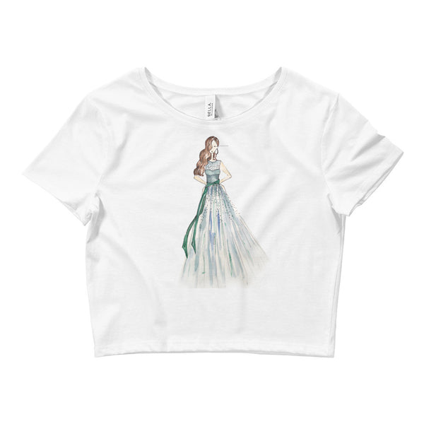 Girl in the Green Dress Women's Crop Tee