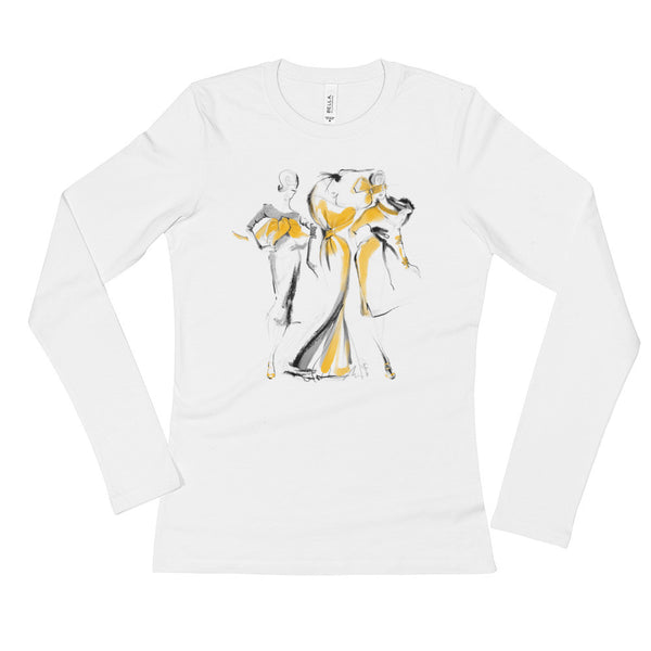 The Girls in Yellow Ladies' Long Sleeve T-Shirt