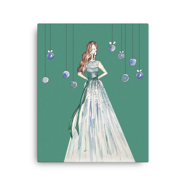 Girl in the Green Dress Canvas