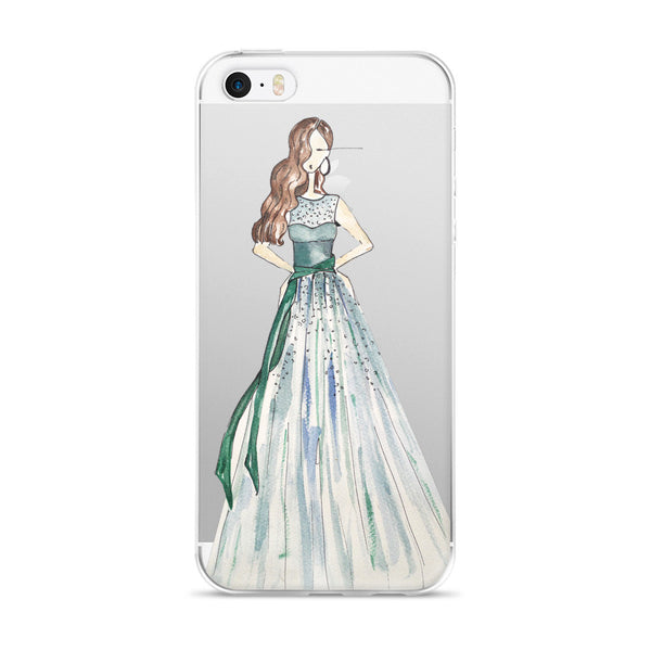 Girl in the Green Dress iPhone Case