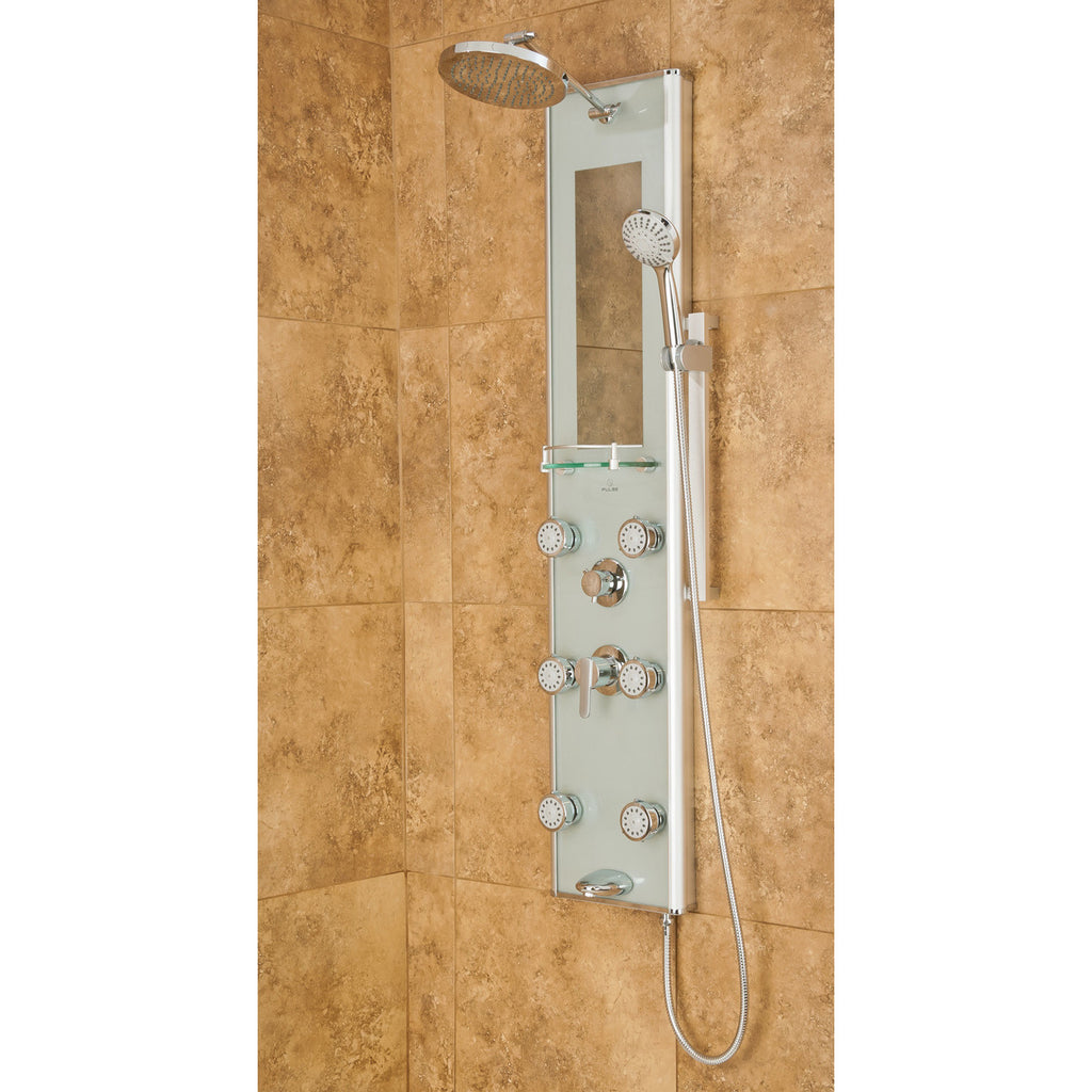 Pulse 1013-GL Multi-Function Shower Panel with Rain Shower Head ...