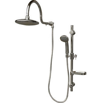 Elegant Pulse 1019 CH Aqua Rain 2.5 GPM Shower System With Rain Shower Head And  Multi Function Hand Shower