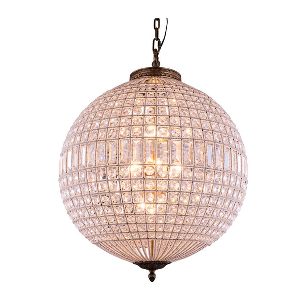 "Elegant Lighting 1205D24FG/RC Olivia Collection Pendent Lamp D:24.5"" H:33.5"" French Gold Finish (Royal Cut Crystals) - Mega Supply Store"