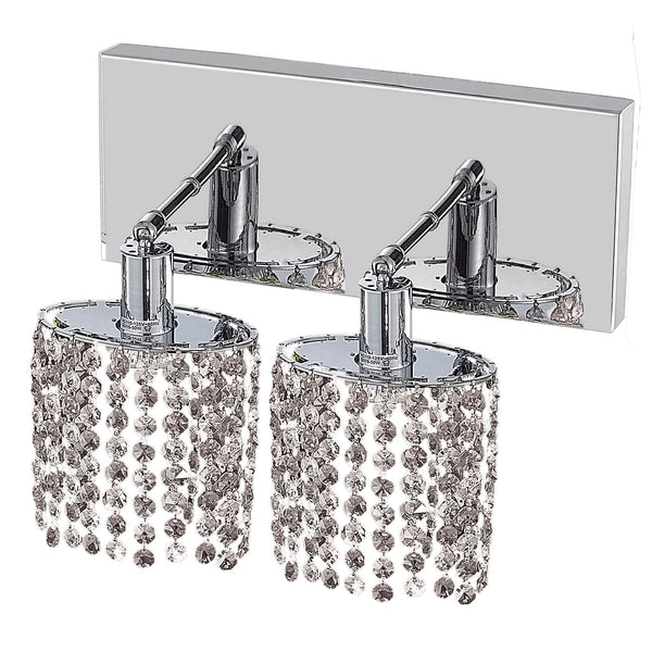 "Elegant Lighting 1282W-O-E-CL/SS Mini Collection Wall Fixture Oblong Canopy L8"" x 4.5"" x H13.5"" Ellipse Pendant, Chrome Finish (Swarovski Strass/Elements Crystals) - Mega Supply Store"