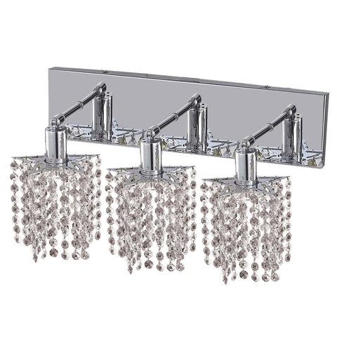 "Elegant Lighting 1283W-O-P-CL/EC Mini Collection Wall Fixture Oblong Canopy D14.5"" x 4.5"" x H13.5"" Star Pendant, Chrome Finish (Elegant Cut Crystals) - Mega Supply Store"