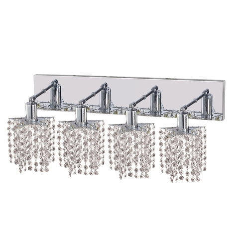 "Elegant Lighting 1284W-O-P-CL/EC Mini Collection Wall Fixture Oblong Canopy D26"" x 5"" x H13.5"" Star Pendant, Chrome Finish (Elegant Cut Crystals) - Mega Supply Store"