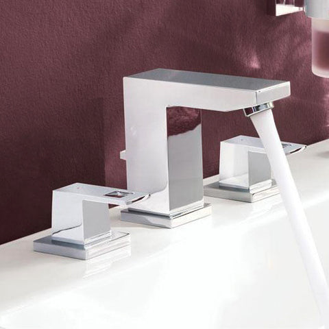 Grohe 20370000 Eurocube Widespread 3-Hole Bathroom Faucet - Mega Supply Store - 1