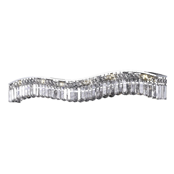 "Elegant Lighting 2040W44C/RC Contour Collection Wall Sconce L44"" x H6"" x E5"" Chrome Finish (Royal Cut Crystals) - Mega Supply Store"