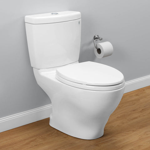 TOTO CST416M#01 Aquia II Dual Flush Two-Piece Toilet, Elongated Bowl | Cotton/White - Mega Supply Store - 1
