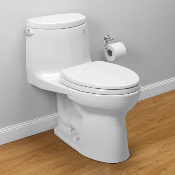 TOTO MS604114CEFG#01 UltraMax II One-Piece Toilet, 1.28 GPF, Elongated Bowl | Cotton/White - Mega Supply Store - 1