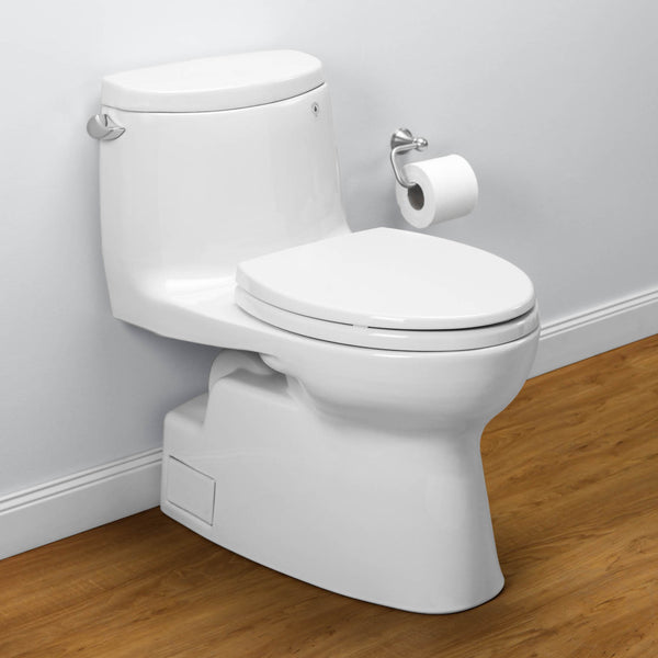 TOTO MS614114CEFG#01 Carlyle II One-Piece Toilet, 1.28 GPF, Elongated Bowl | Cotton/White - Mega Supply Store - 1