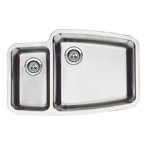 Blanco 440114 (SKU: 513-634) Satin Polished Performa 1-1/2 Bowl Stainless Steel Kitchen Sink - Mega Supply Store