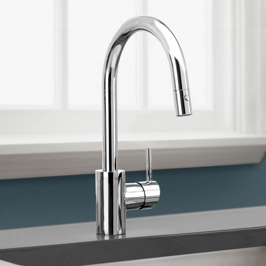 how to remove grohe kitchen faucet handle grohe kitchen faucets Grohe Pull Down Spray Kitchen Faucet Mega Supply