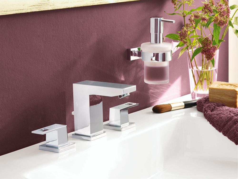 grohe  eurocube widespread bathroom faucet  mega supply store,