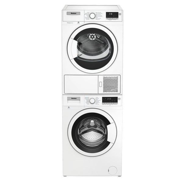 "Blomberg WM98200SX 24"" Compact Front Load Washer and DHP24400W Ventless Dryer Combo - White"
