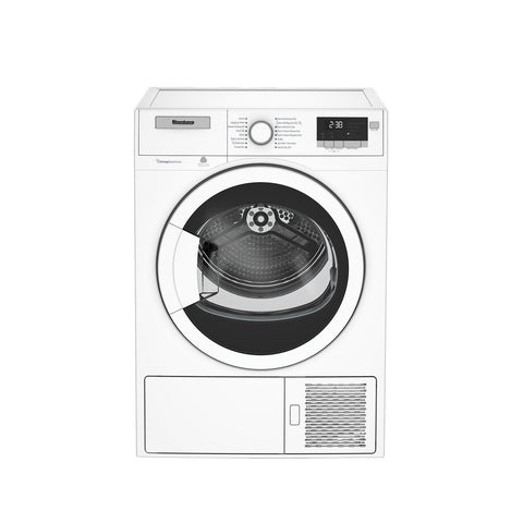 "Blomberg DHP24400W 24"" Heat Pump Ventless Electric Dryer 4.1 cu. ft with White Door, Compact"