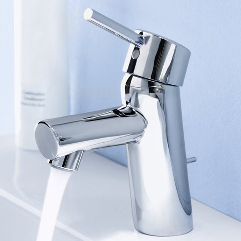 Grohe 34270001 Starlight Chrome Concetto Single Handle Single Hole Bathroom Faucet with SilkMove Ceramic Cartridge - Mega Supply Store - 1
