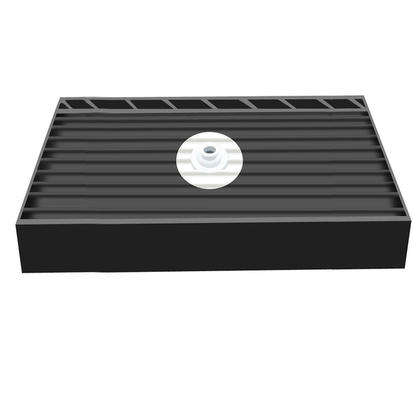 "Tile Redi 3060CDT-PVC 30"" x 60"" Integrated Center PVC Drain Shower Pan/Tray with Triple Curb - Mega Supply Store - 1"